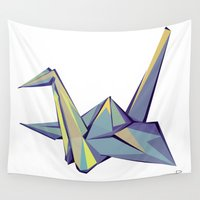 origami Wall Tapestries featuring Origami by Daniela Castillo