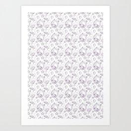 space kid pattern Art Print