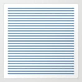 Chambray striped pattern Art Print