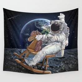 Space Cowboy Painting | Woke Up From A Dream For This Idea Wall Tapestry