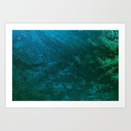 Ferns pattern Art Print