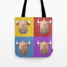 Warhol's Cow Tote Bag