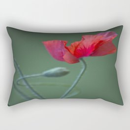 Red Poppy Dance #decor #society6 Rectangular Pillow