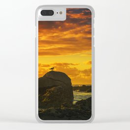 The lonely bird Clear iPhone Case