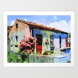 Catanzaro: home and flower Art Print