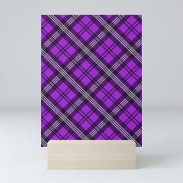 Scottish Plaid (Tartan) - Purple Mini Art Print