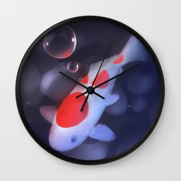 Kohaku Koi Fishu Wall Clock