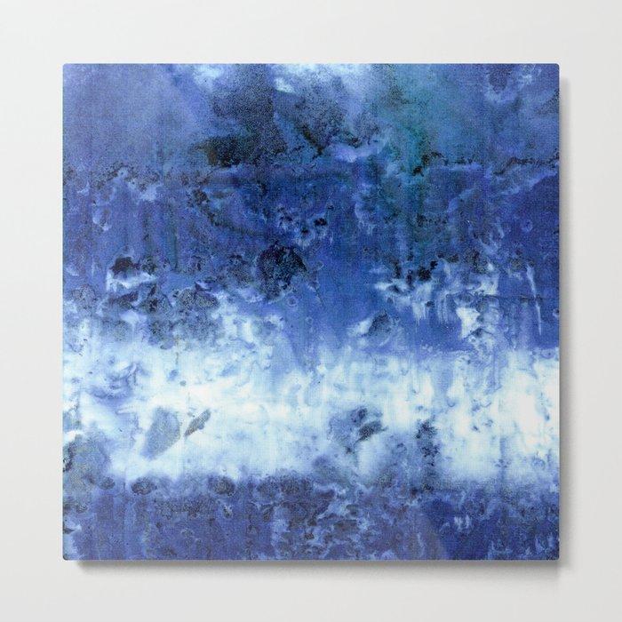 Saltwater Silk Blue Metal Print
