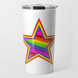 Rainbow Star Travel Mug