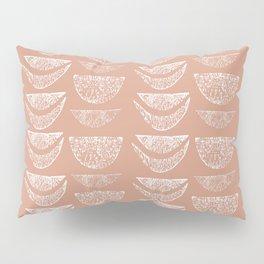 Textured Crescents in Blush Pillow Sham