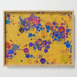 Vibrant Multi Color Abstract Design Serving Tray