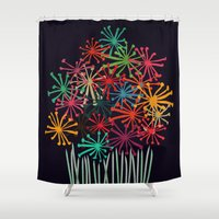 matisse Shower Curtains featuring Flower Bouquet by Picomodi
