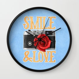 Smile and Love Wall Clock