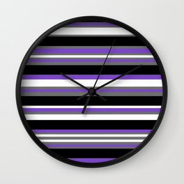 Stripes Pattern: Violet Wall Clock