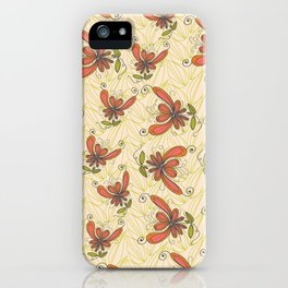 nut leaves - cream iPhone Case