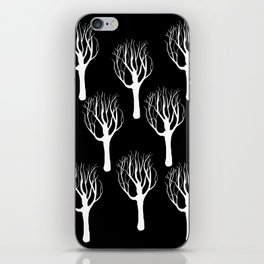 Black and White Forest Print iPhone Skin
