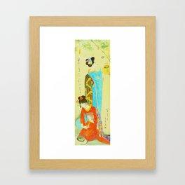 Vintage Japanese Geisha Girls Framed Art Print