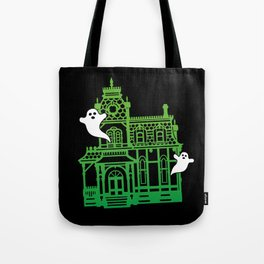 Haunted Victorian House Tote Bag