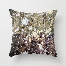Rough Yin/Yang Planks Throw Pillow