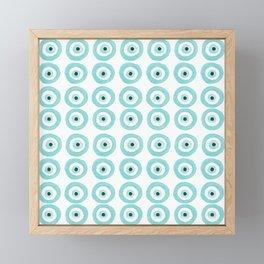 Baby Blue Evil Eye Framed Mini Art Print