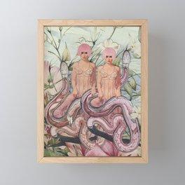 Snake Charming Framed Mini Art Print