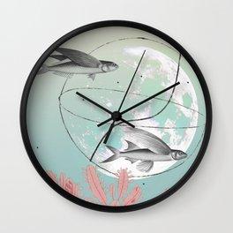 modern collage. contemporary art Wall Clock