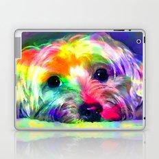 Colorful Yorkie By Annie Zeno  Laptop & iPad Skin