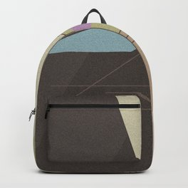 Abstract pattern . Brown -beige . Backpack