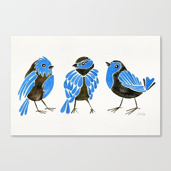 Blue Finches Canvas Print