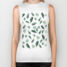 Tropical Jungle Leaf Pattern #2 #tropical #decor #art #society6 Biker Tank