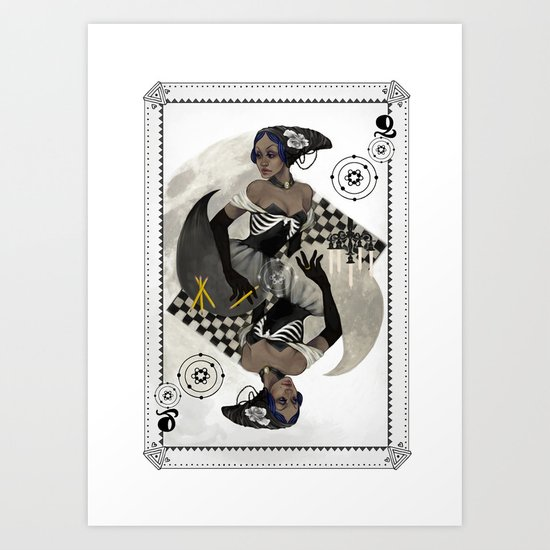Queen of Carbon Art Print