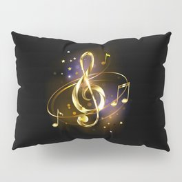 Golden Musical Key Pillow Sham