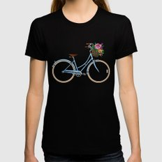 Her Bicycle Womens Fitted Tee MEDIUM Black
