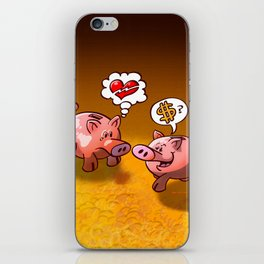 Money or Love? iPhone Skin