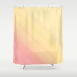 Pastel Ombre Millennial Pink Yellow Diagonal Stripes | Peach, apricot gradient pattern Shower Curtain