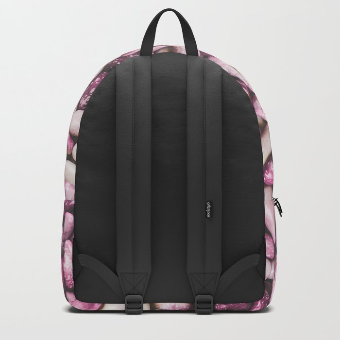 Shiny white and purple cool beans Backpack