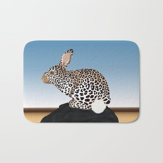 Rabbit Guepard Pattern Bath Mat