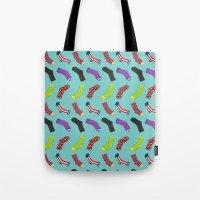 socks Tote Bags featuring Avenging Socks by Kelslk