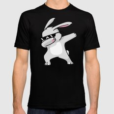 Dabbing Easter Bunny Black Mens Fitted Tee MEDIUM