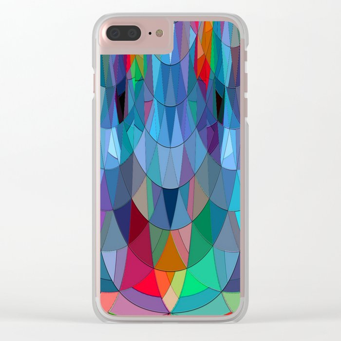 The Many Colors of the Mermaid.... Clear iPhone Case