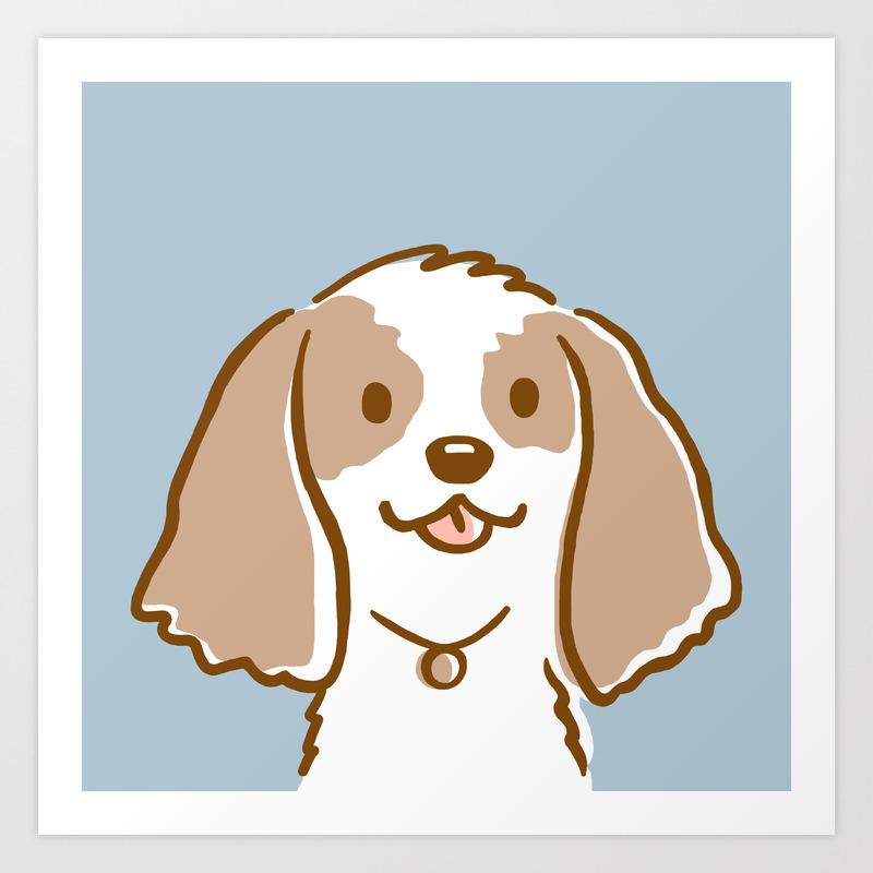 Cocker Spaniel Cartoon Dog Art Print By Mylifeisacartoon Society6