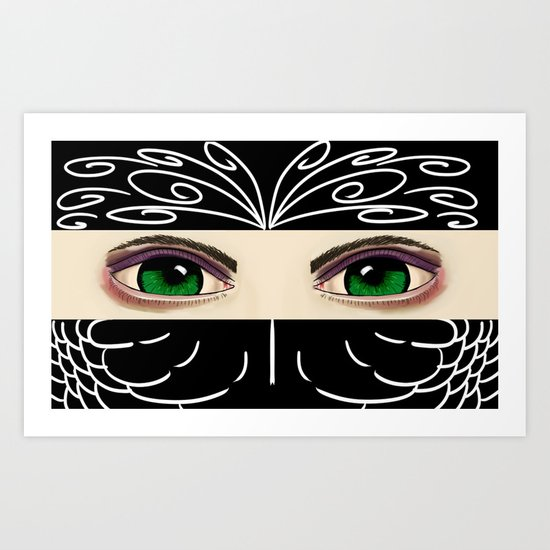 Reverse Masquerade Art Print