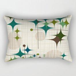 Mid Century Modern Starbursts and Globes 1a Rectangular Pillow