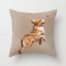Catch the ball Throw Pillow
