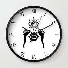 Buddha's Peepers Wall Clock