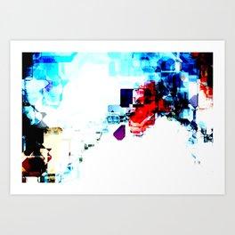 Techno Blitz Art Print