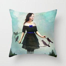 The Garden Game Throw Pillow