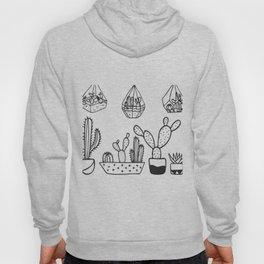 Cactus Garden Black and White Hoody