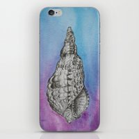 ghost in the shell iPhone & iPod Skins featuring shell by Diane Nicholson
