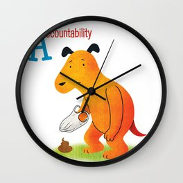 Accountability Wall Clock